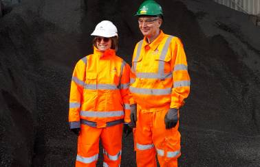 Redditch MP praises Aggregate Industries' investment in staff training during plant visit