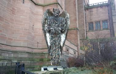 Aggregate Industries donates base for the Knife Angel