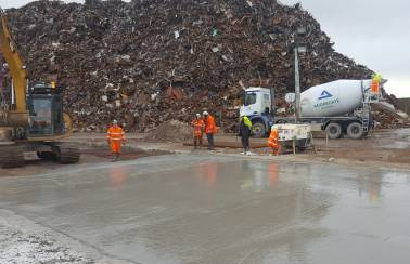 Aggregate Industries paves the way at Liverpool's Canada Docks