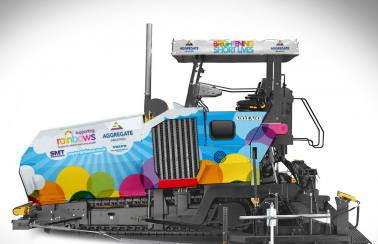 Aggregate Industries brings technicolour cheer to local children's hospice with new 'rainbow paver'