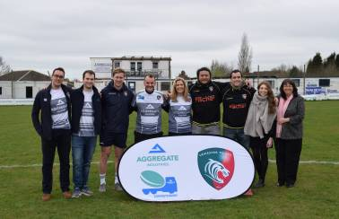 Leicester Tigers Stars join pupils at first ever Aggregate Industries Concrete Rugby festival