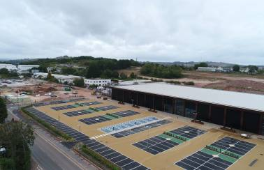 Aggregate Industries adds a touch of green to landmark Devonshire Retail Park