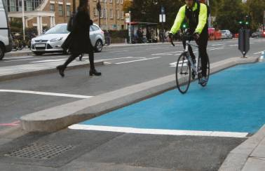Transport for London Cycle Kerb segregation system