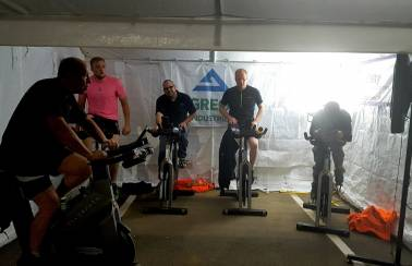 Garside Sands goes the distance in grueling charity cycle