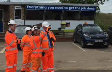 Local roads on the agenda as MP visits Aggregate Industries' Hertford Asphalt plant