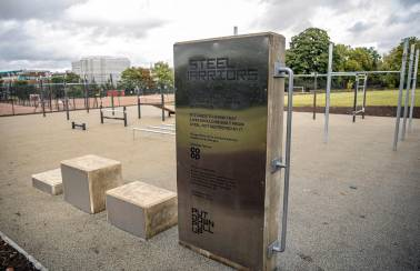 Spadeoak works with Steel Warriors to create outdoor gym from recycled knives