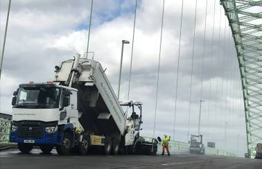 Aggregate Industries' New Prolay Asphalt Bridges the Gap on Runcorn's Silver Jubilee Bridge Renovation