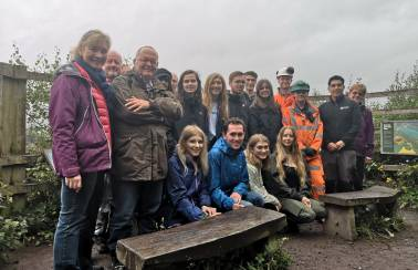 Aggregate Industries partners with Shropshire Wildlife Trust and CoachWalk to boost university students' environmental awareness