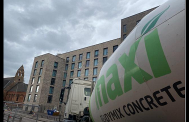 Maxi Readymix Concrete Supplying NHS Leicester