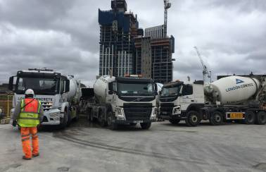 London Concrete provides momentous continuous pour to One Nine Elms development