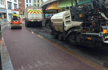 Red Alert! Red asphalt paves the way for Leicester Market's £1.9m revamp