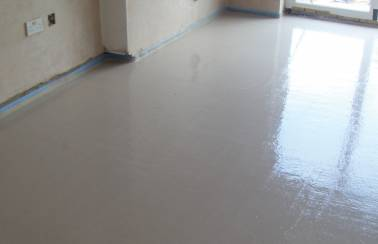 Wet screed been laid
