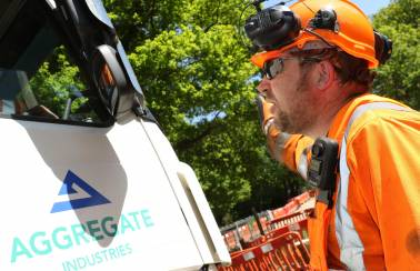 Aggregate Industries champions site safety with mandatory two-way helmets