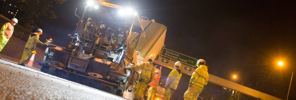 Asphalt, aggregates and logistics solutions all provided on the A1 widening project